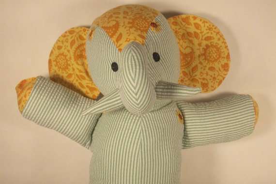 Stuffed Elephant Toy--Margie