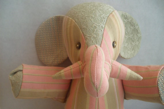 Stuffed Elephant Toy--Anne