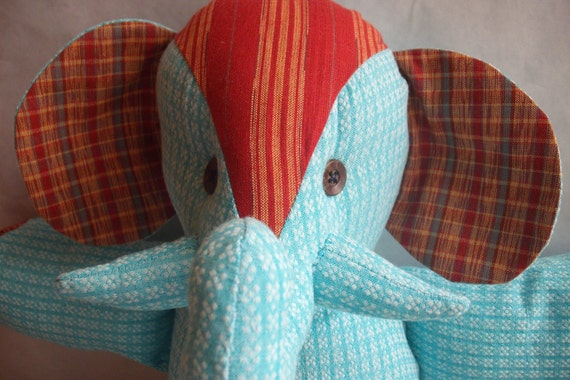 Stuffed Elephant Toy--Larry