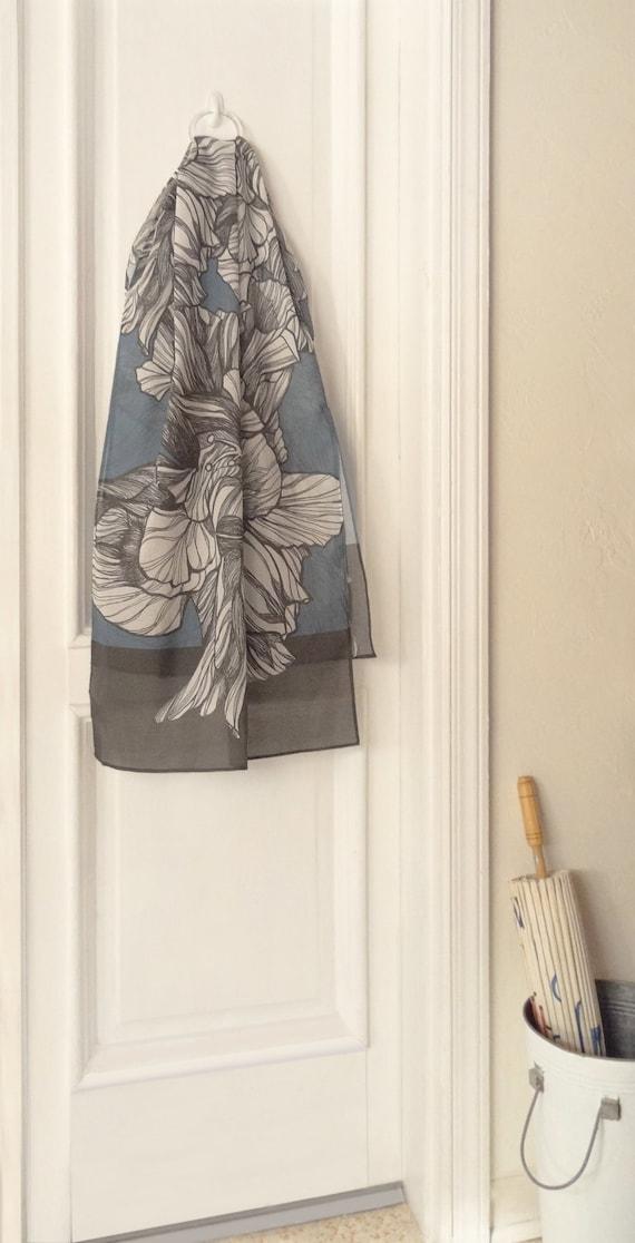 Hibiscus Hybrid Printed Scarves