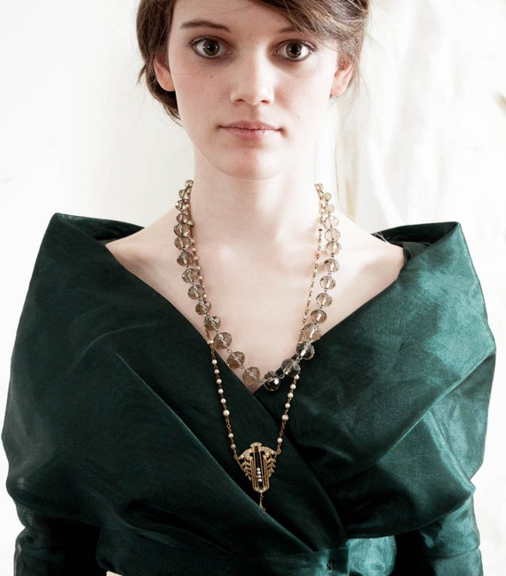 Moss Green 1980s party dress