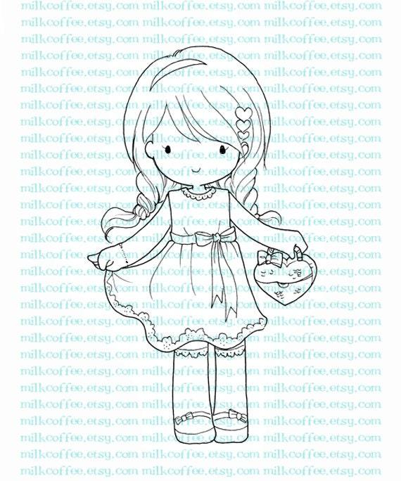 Digital Stamp Charlotte Valentine Date