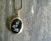 Vintage Picture Locket..Midnight Garden - roadkillvintage