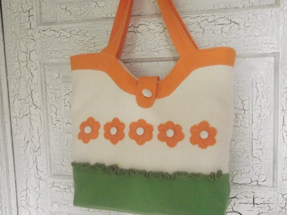 Linen Tote Bag Eco Friendly Beach Bag Market Bag with Crocheted Flowers