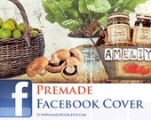 Facebook Timeline Cover Design Set  - Premade - Professional Design Facebook Cover Page and Profile Image avatar