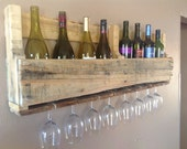 Reclaimed wood wine rack - DelHutsonDesigns
