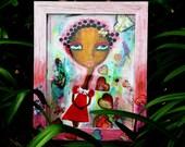 Little Black Girl Painting