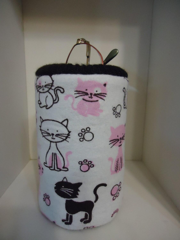 pink brown kitten cat eyeglass holder office