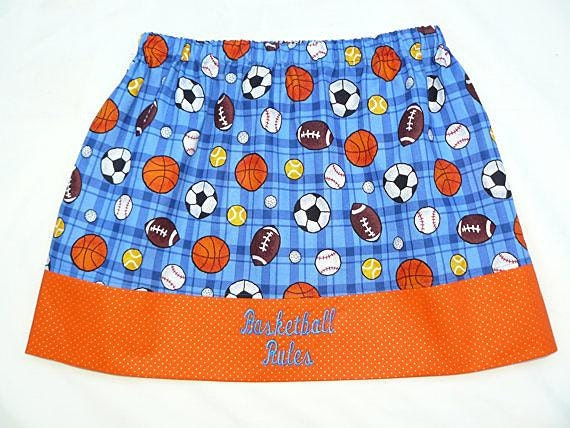 "Girls ""Basketball Rules"" Skirt"