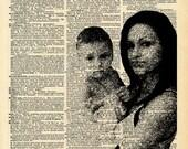 Original YOUR Photo Customized Art Print, VINTAGE Dictionary Page Collage, Dictionary Page YOUR Photo, Family Anniversary Love Gift