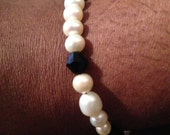 Black and white elegant bracelet