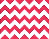 CHEVRON KNIT FABRIC - Watermelon - Hot Pink  Cotton Jersey Knit fabric - Half Yard - GlamFabrics