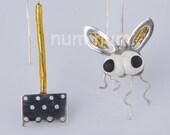 sterling silver 925 fly-flapper earrings