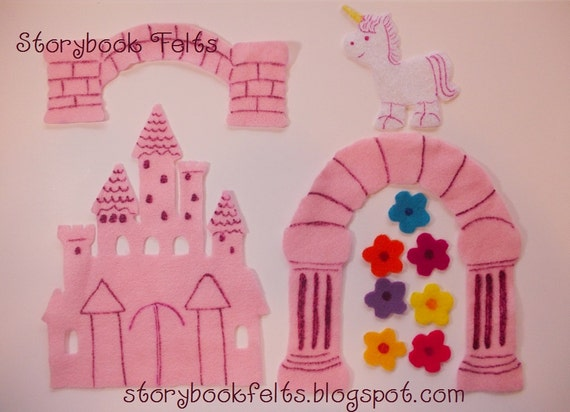 Storybook Felts Felt My LIttle Princess Castle Play Set 11 pcs