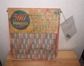 Nickel Punchboard 1940s Collectible
