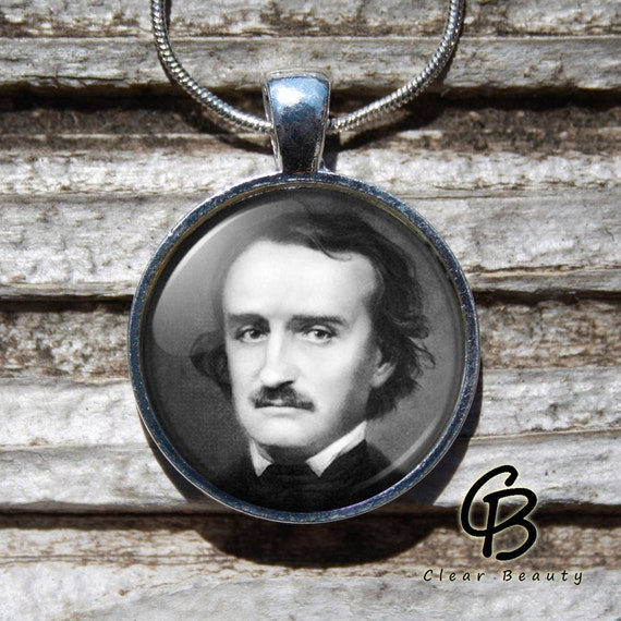 Edgar Allan Poe - Glass Dome Print Pendant Jewelry P966