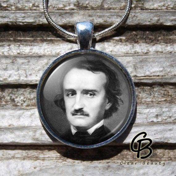 Edgar Allan Poe - Glass Dome Print Pendant Jewelry P966