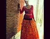 Indian Sun Flowers Harvest Skirt / Dress