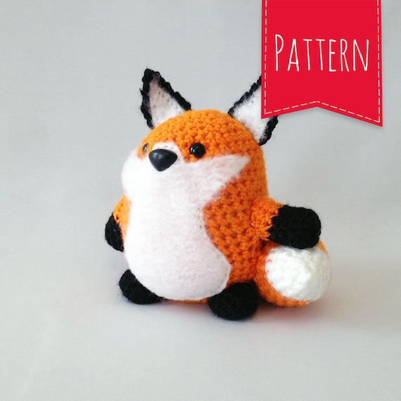 Portly Pal Fox Crocheted Plush PDF Pattern