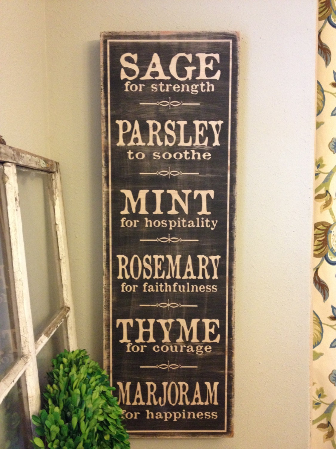 Wall Art Signs Kitchen : Wooden word art for kitchen afreakatheart