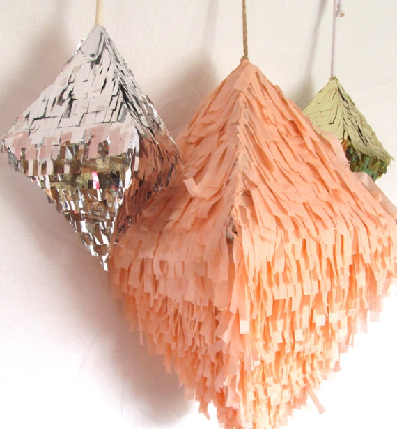 "Mini Silver Octahedron ""Crystal Confetti"" Pinata"