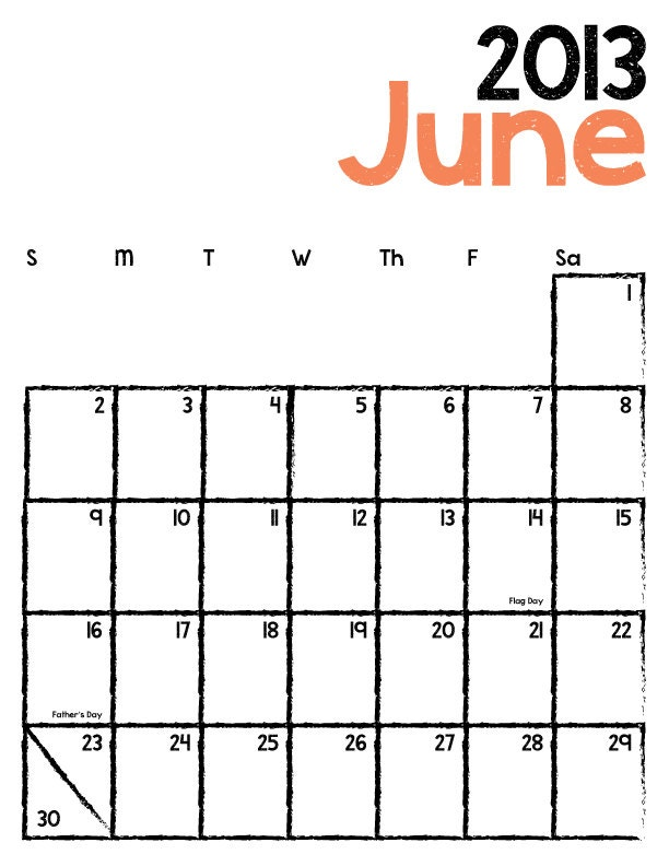 Monthly Calendar I Can Type On : Calendar you can type in just b use