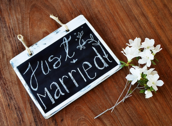 Wood Chalkboard  - Distressed White Rustic Blackboard - wedding sign - engagement announce -