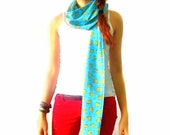 Easter bunny Rabbit blue chevron Scarf Scarves Limited time only - TheGeektonian