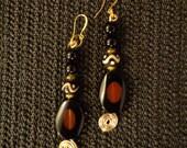 Brown Eyes - Eye Agate & Onyx Earrings, African Earrings, Ethnic Earrings, Gemstone Earrings