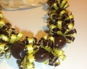Brown and Yellow Grad Lei