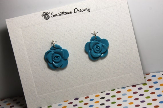 Blue   Polymer Clay Pendants/Charms(Set of 2)
