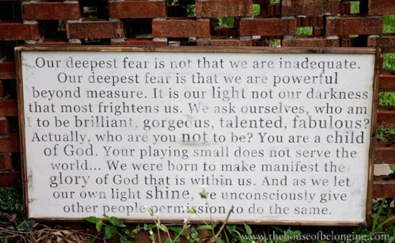 Powerful Beyond Measure - Wood Sign