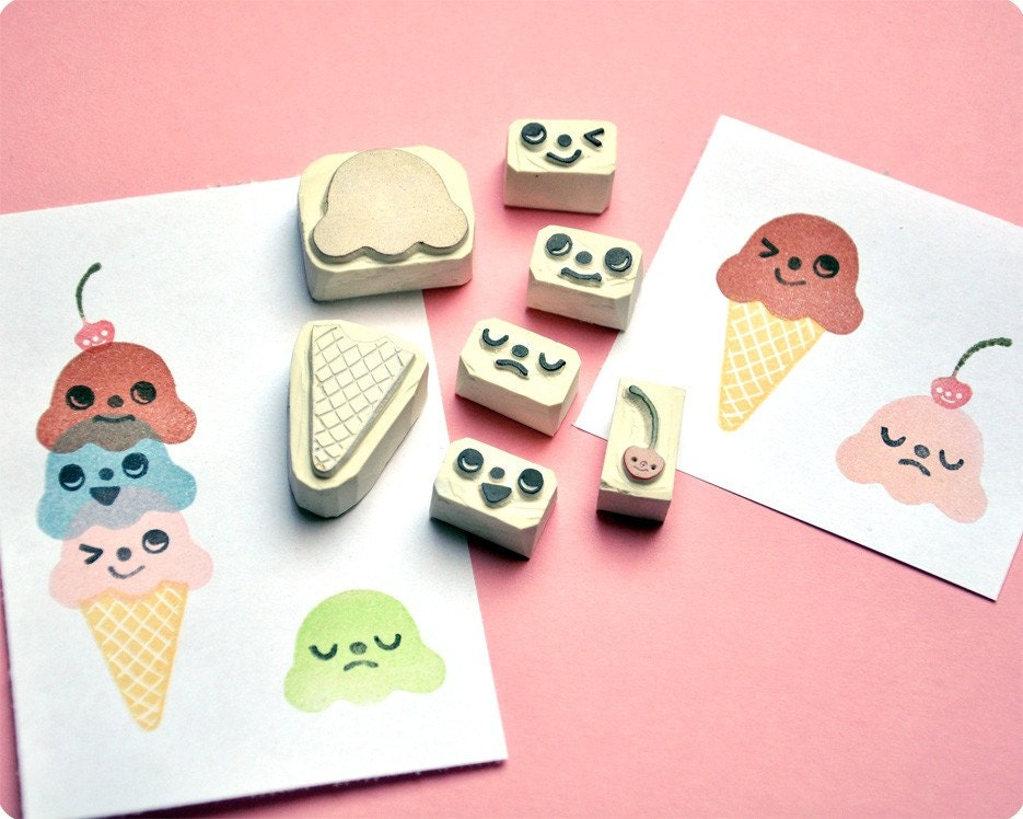 Ice Cream Rubber Stamps