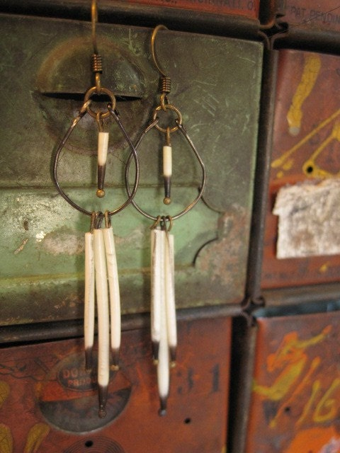 Dirt No. 13 - porcupine quill earrings