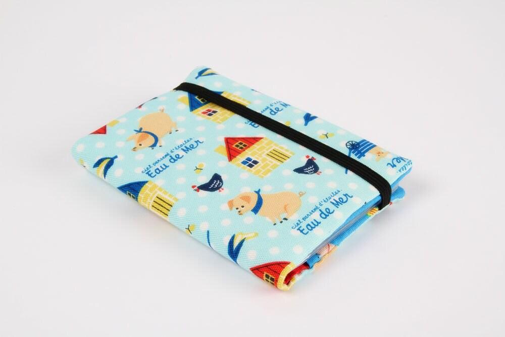 Card holder - Eau de mer pigs on blue