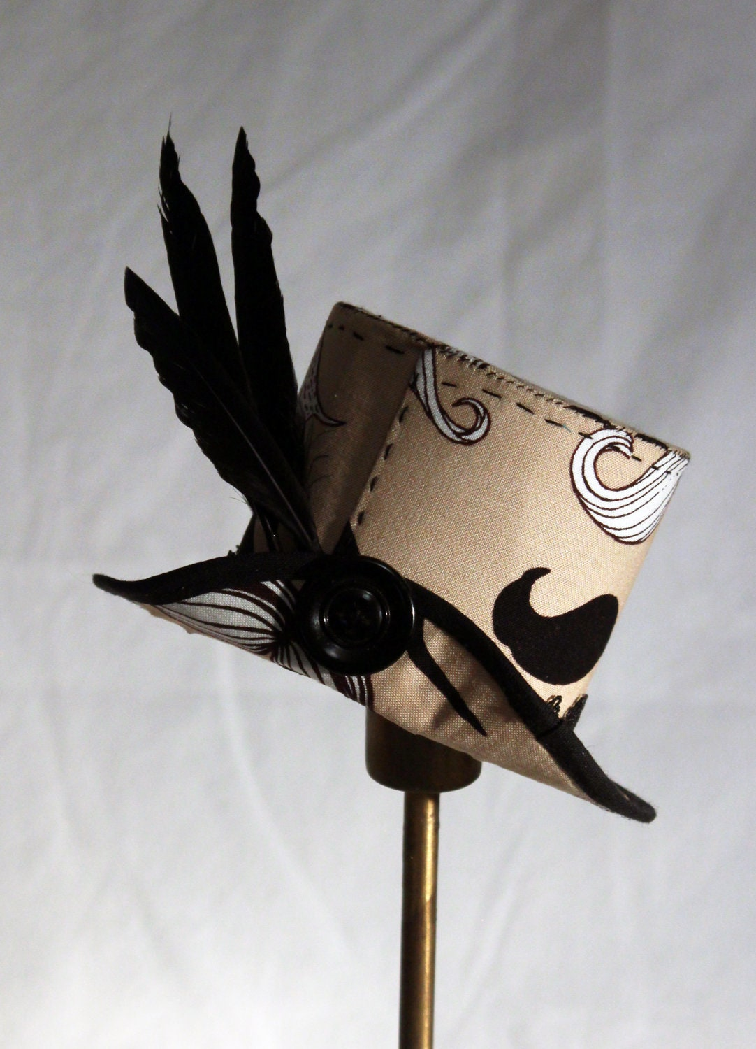 Moustache Mini Top Hat