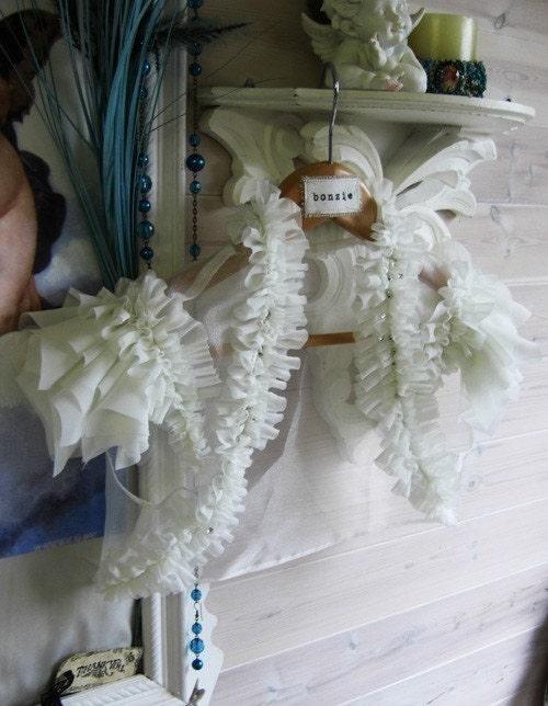 Fallen Angel Bolero - Soft Vintage Inspired Ruffled Chiffon Bridal Shrug in Ivory
