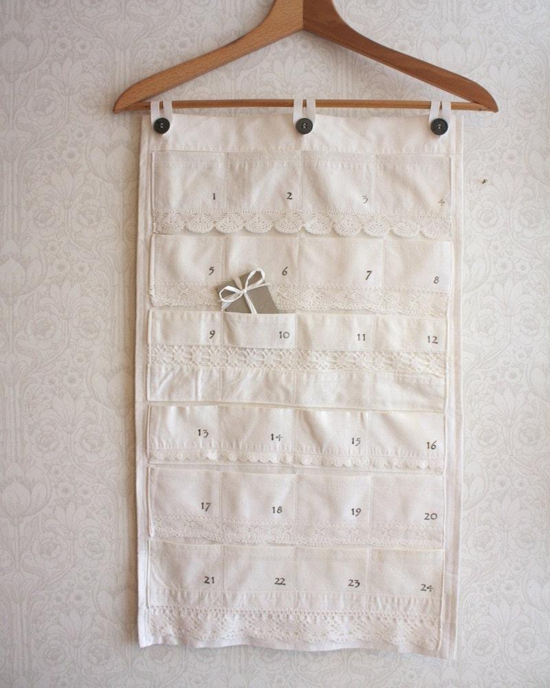 экологически чистом Рождественский календарь, белое на белом коллекции