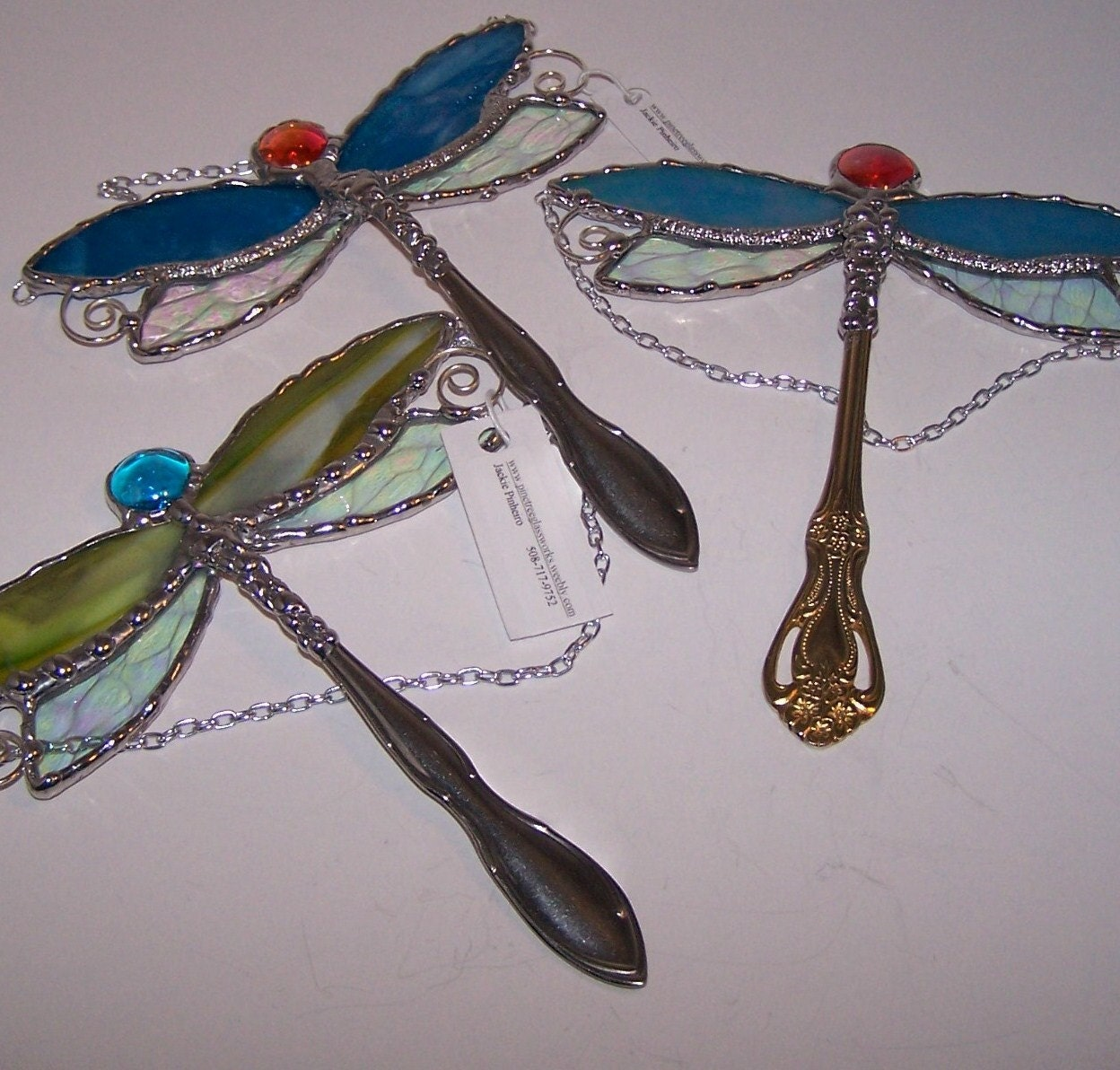 Stained Glass Dragonfly - PineTreeGlassWorks