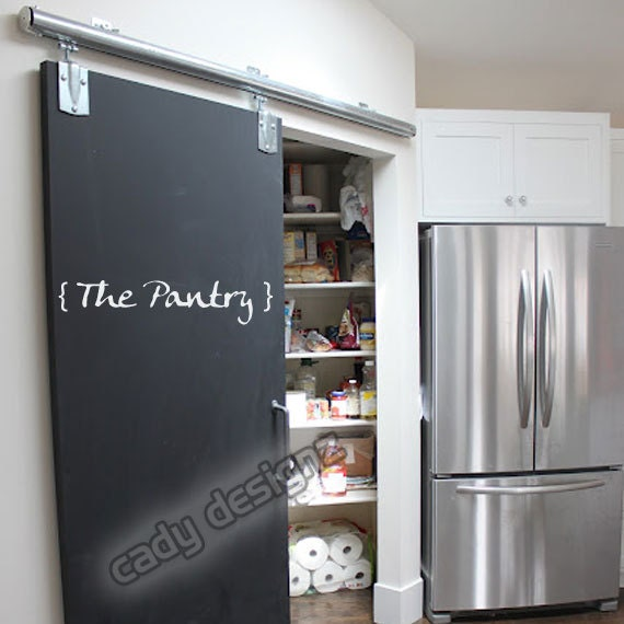 Pantry Kitchen Wall Decal Decor Door Sticker Label by CadyDesignz
