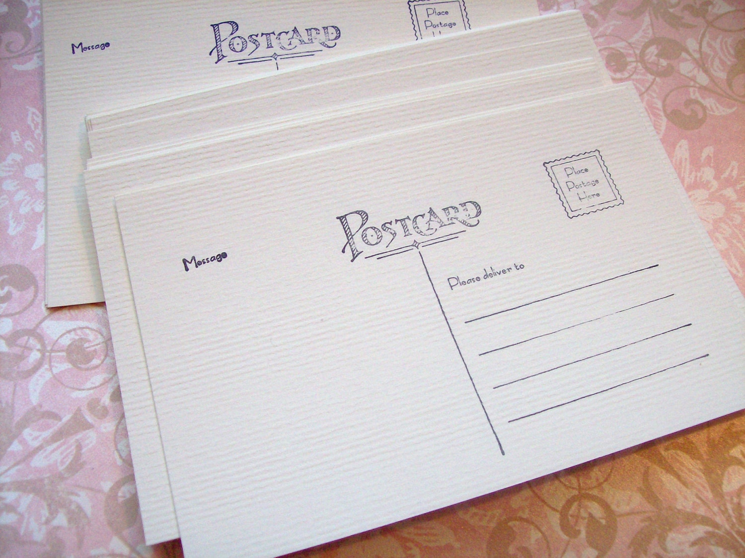 Postcard blanks - set of 50 - 4x6 soft white