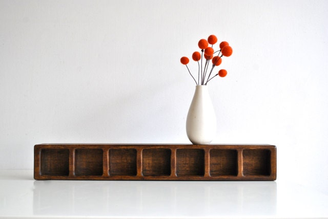 Wooden Candle Holder - Vintage Home Decor - Rustic Modern - charliesnest