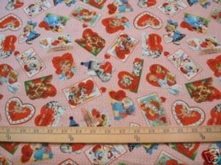 Riuworldanlo Vintage Valentines Fabric
