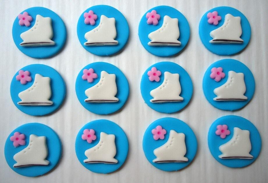 Ice Skating Cupcakes Ice Skating Cupcake Topper