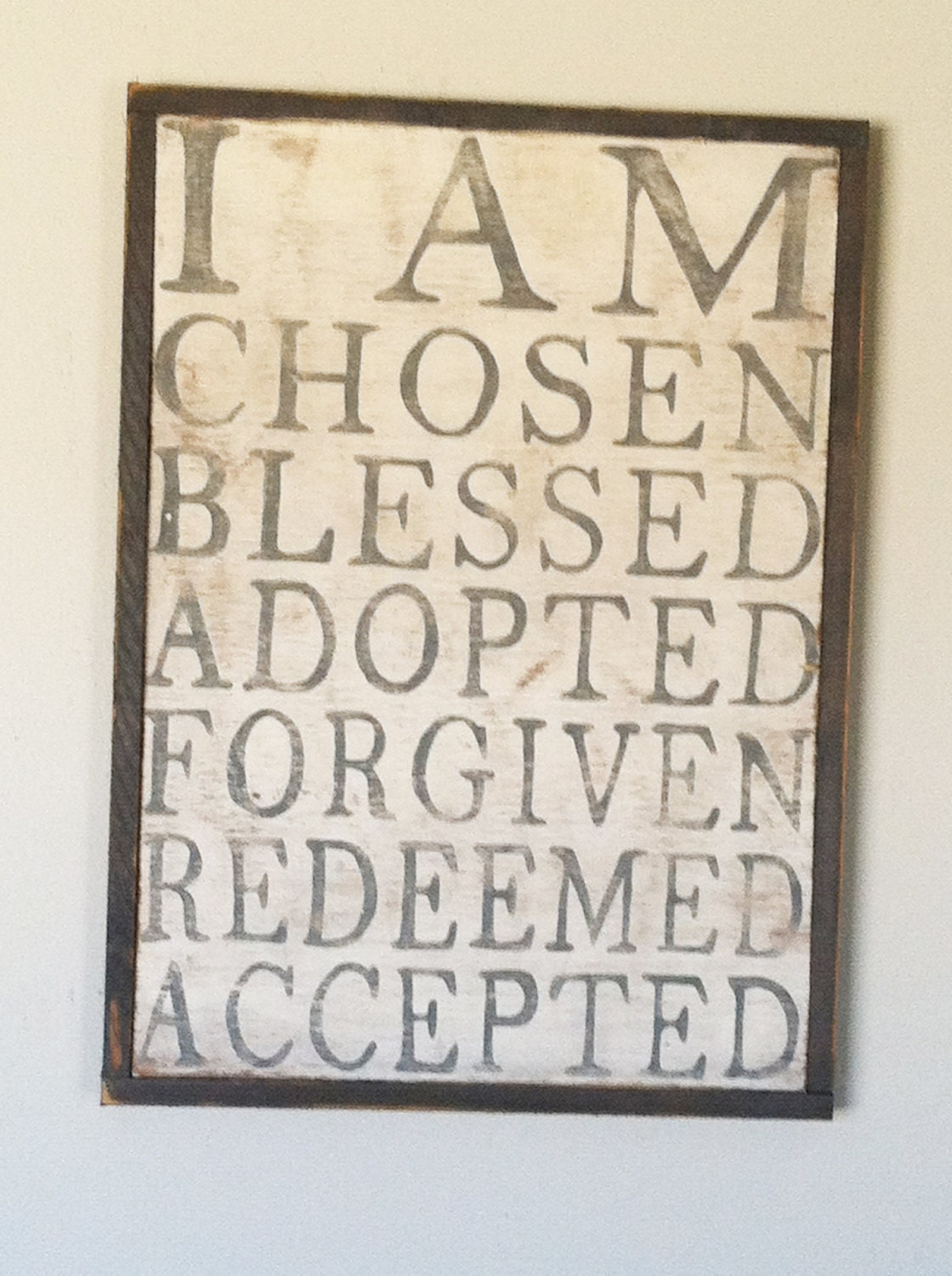 I am Chosen - Hand Painted Sign