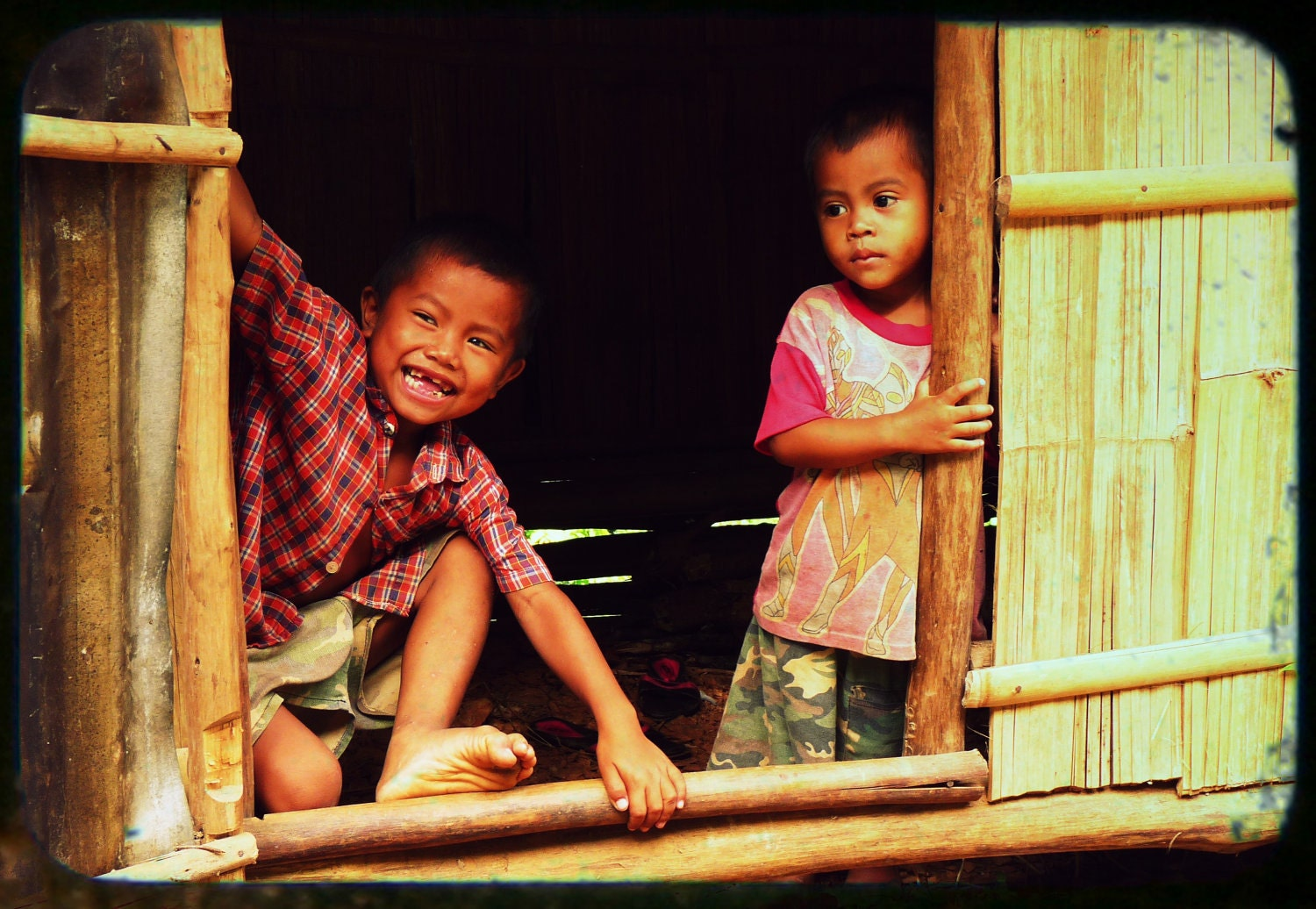 Sons Of Summer - Fine Art Travel Photography TTV 8 x 12 Children playing in a small village in Laos