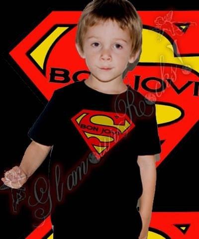 Superman Tattoos on Bon Jovi Superman Tattoo T Shirt Tee Toddler Unisex Boy Or Girl