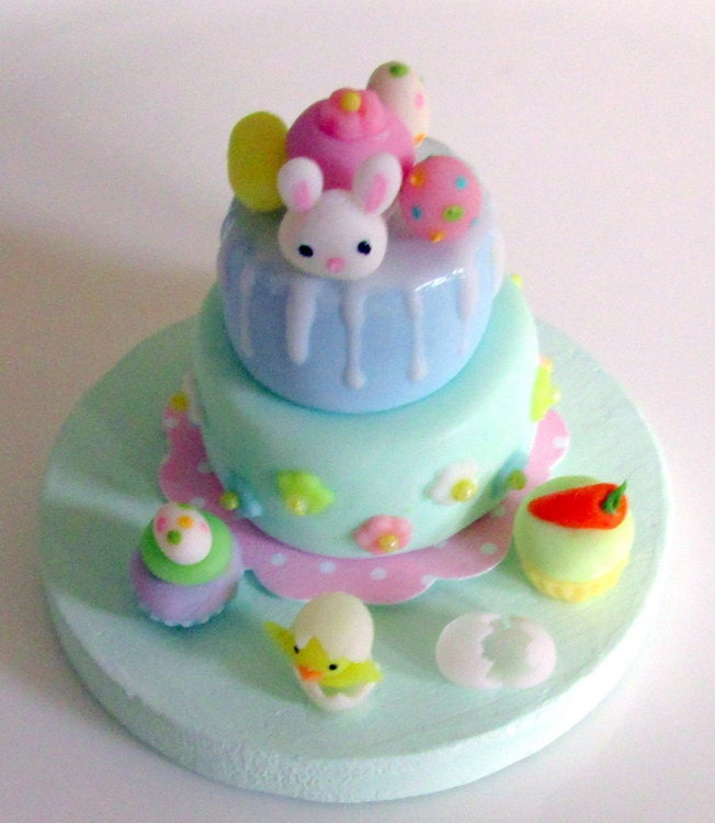Easter cake and cupcakes - Asakomini