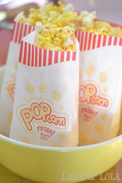 50 New-Nostalgic Popcorn Bags - BonFortune