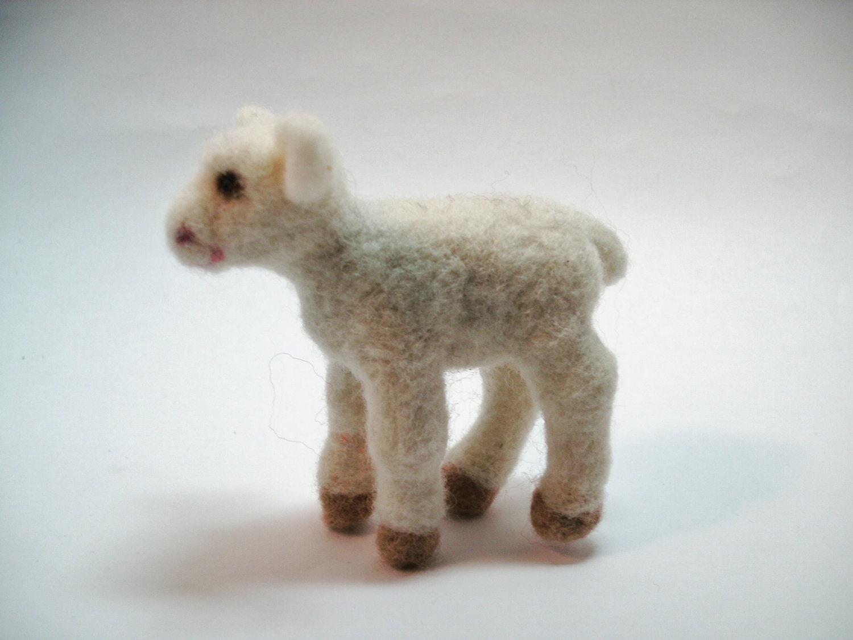 Lamb, Needle Felted. - OsbornArtistry